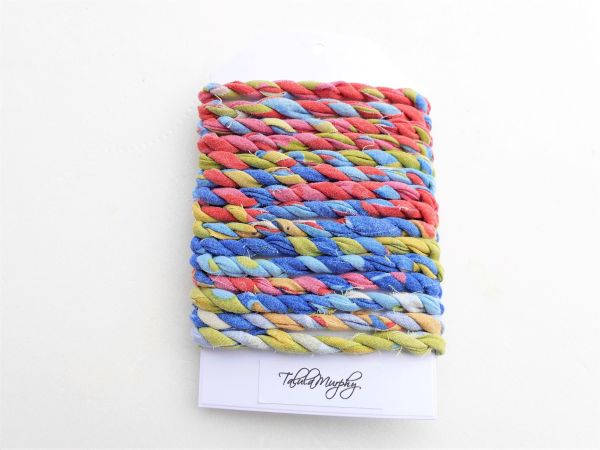 fun scrap fabric string for crafts