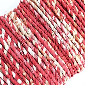 red rust fabric twine