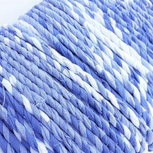 blue white fabric twine
