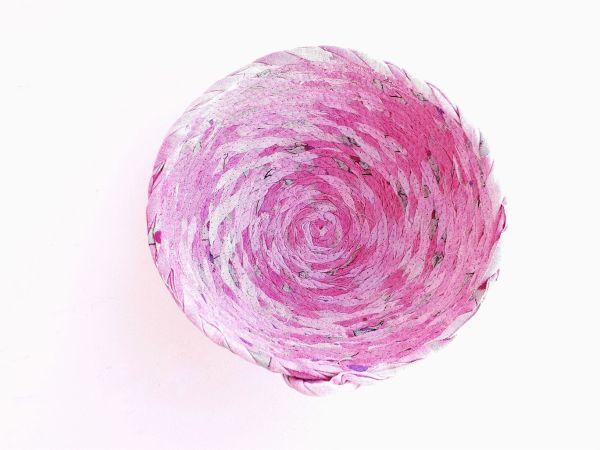 pink basket bowl
