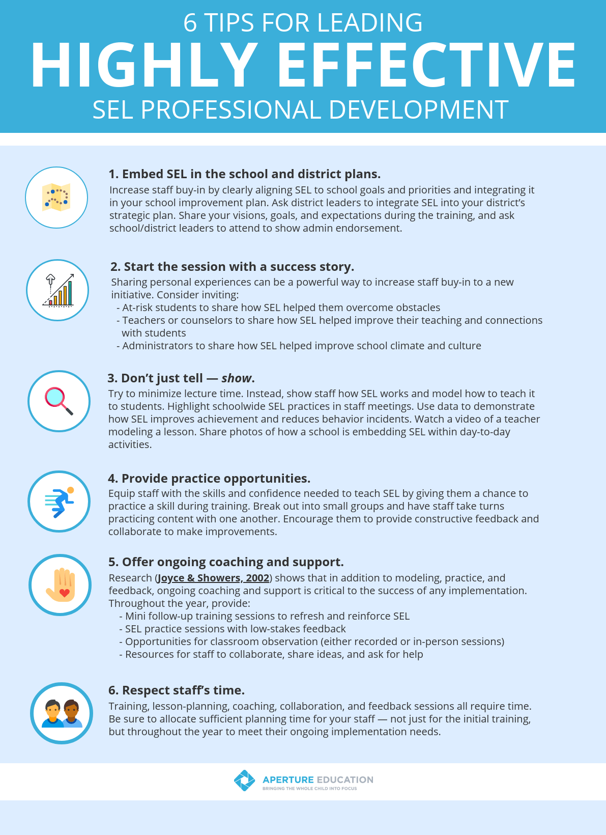 Infographic 6 Tips For Leading Highly Effective Sel