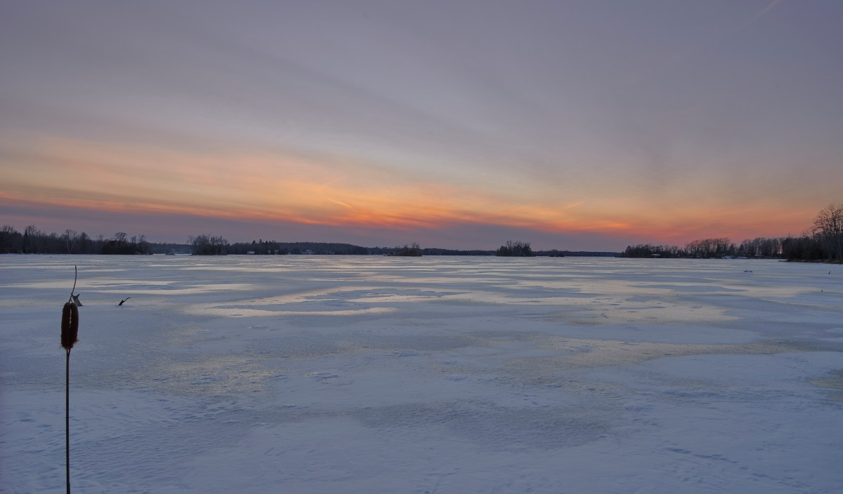Sunset - Frozen Lake!