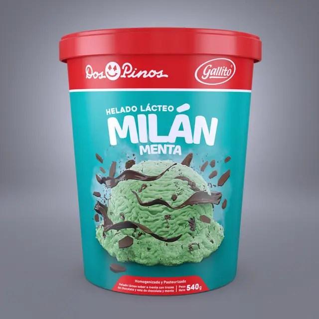 helado milan menta