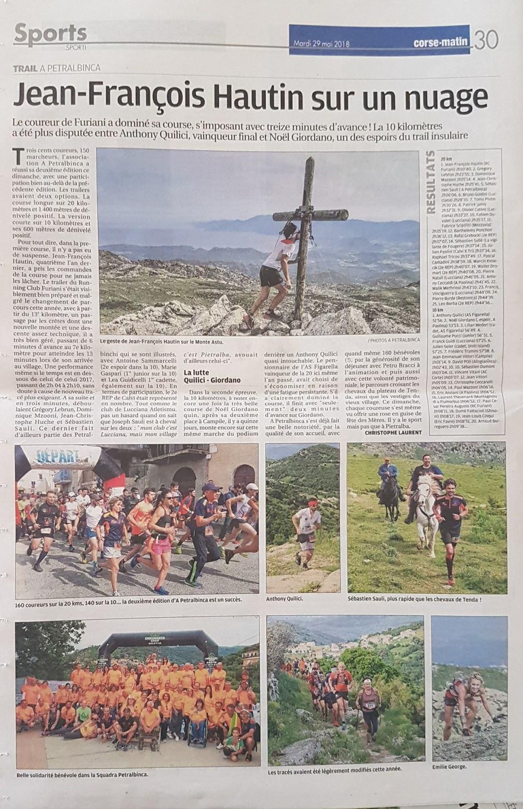 Article du Corse-Matin