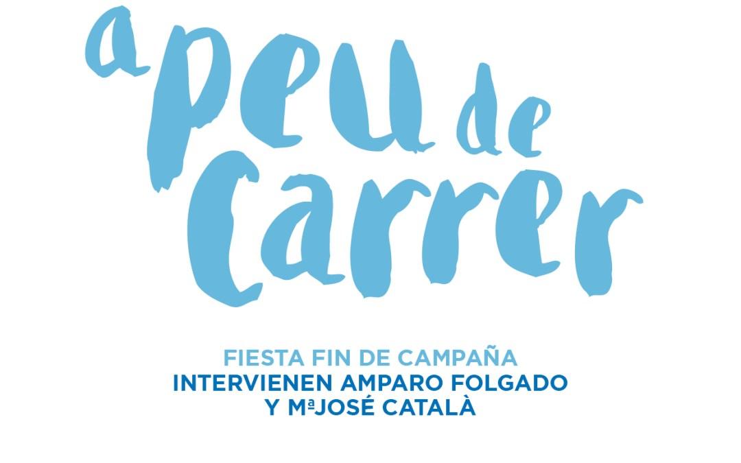 Fiesta Cierre de Campaña de Amparo Folgado en la Plaza Mayor