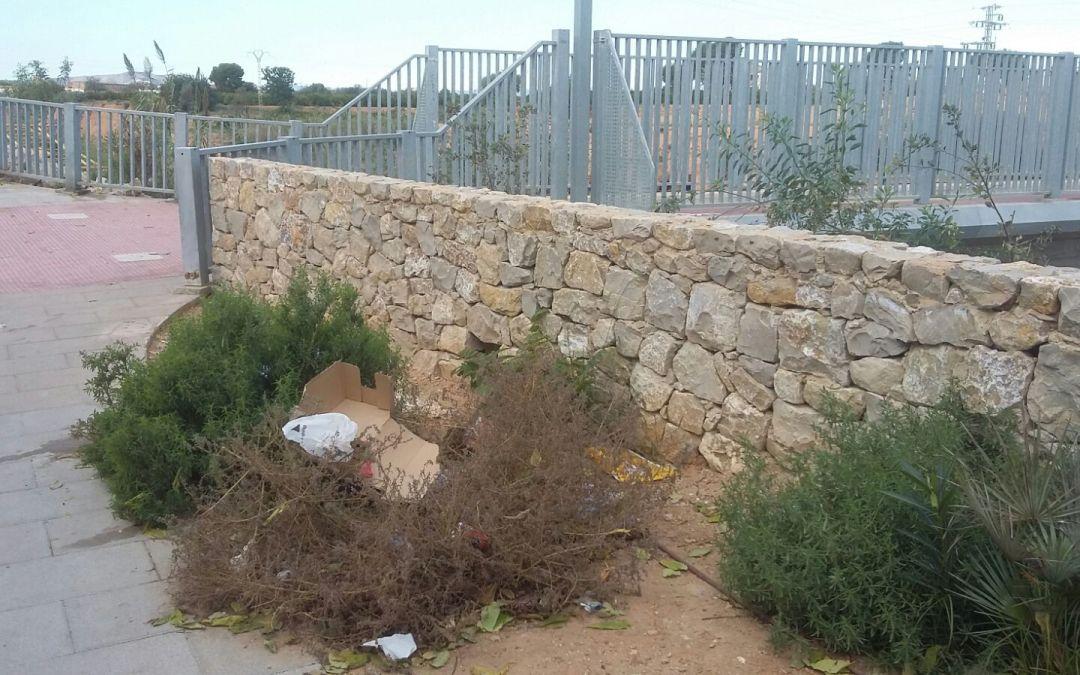 El PP insta a la limpieza del barranco y al mantenimiento de su entorno junto al Xenillet