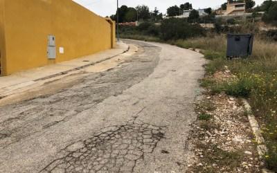 El PP de Torrent pide en una moción un plan de asfaltado para Calicanto con cargo al superávit de 2017