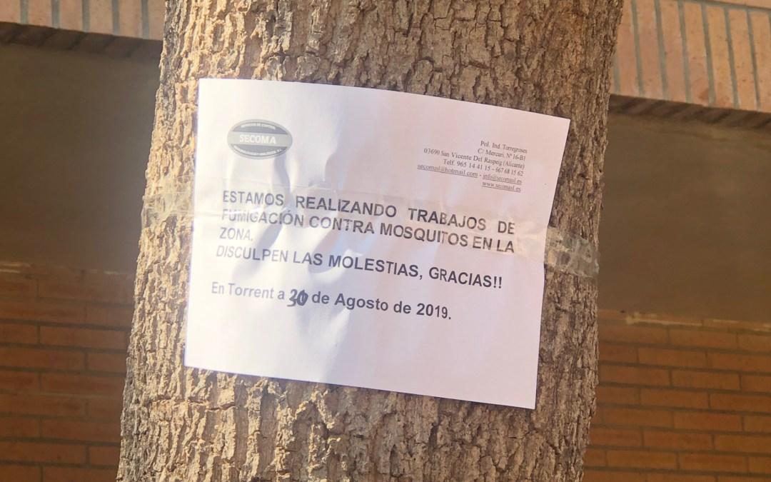 El PP pide información acerca de las medidas adoptadas tras detectarse un caso de dengue en Torrent