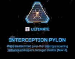 Intrception pylon wattson apex legends abiility