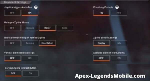 Apex Legends Mobile Movement Setting Guide