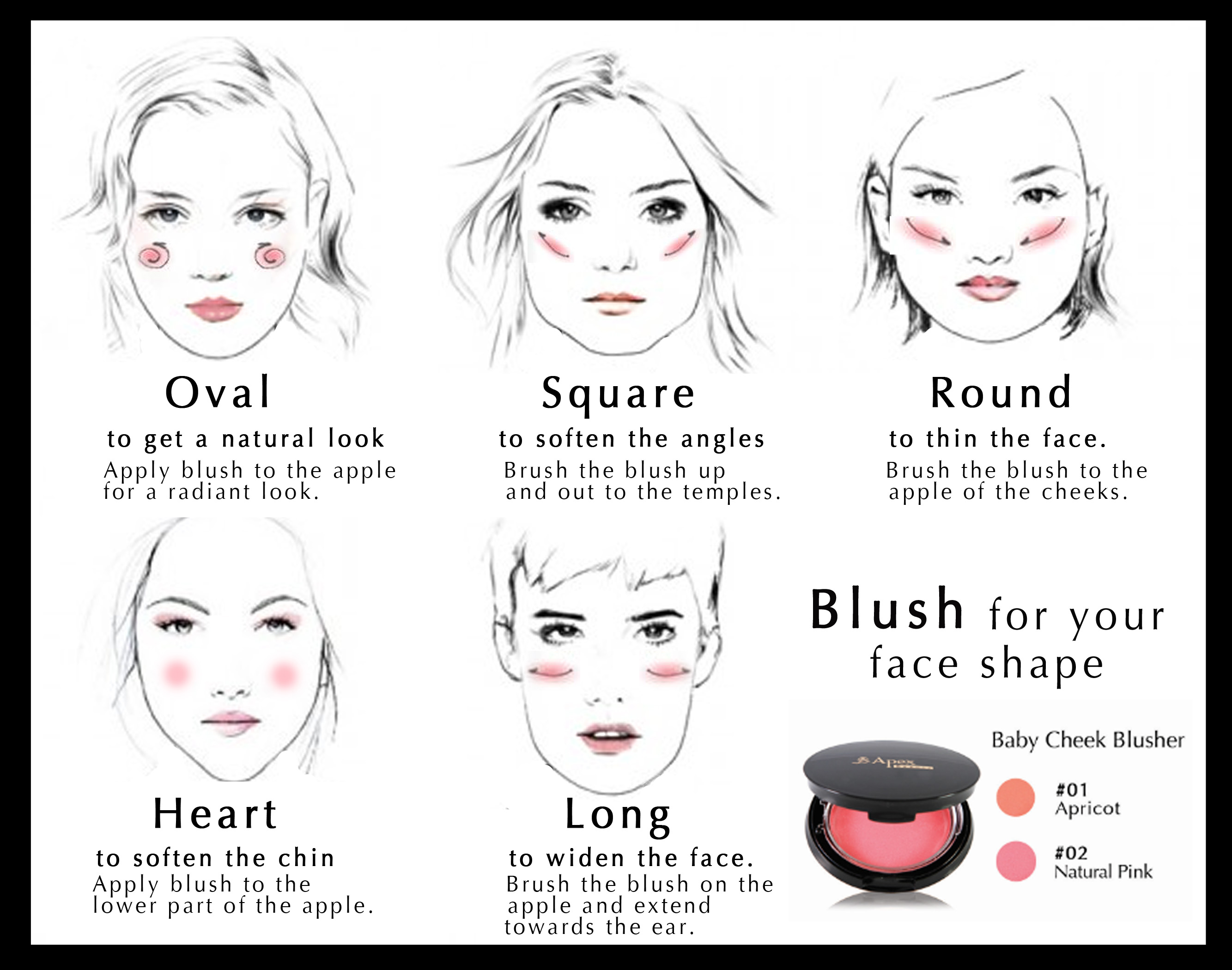 Blush For Face Shape