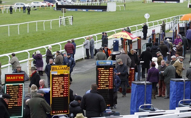 bookies stalls at horse racing event