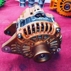 Caramel brown high output alternator