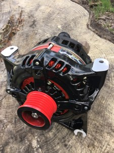 red and black apex high output alternator