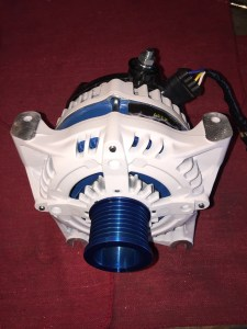 white and blue apex high output alternator