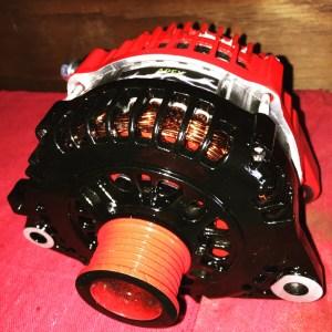 red and black apex high output alternator