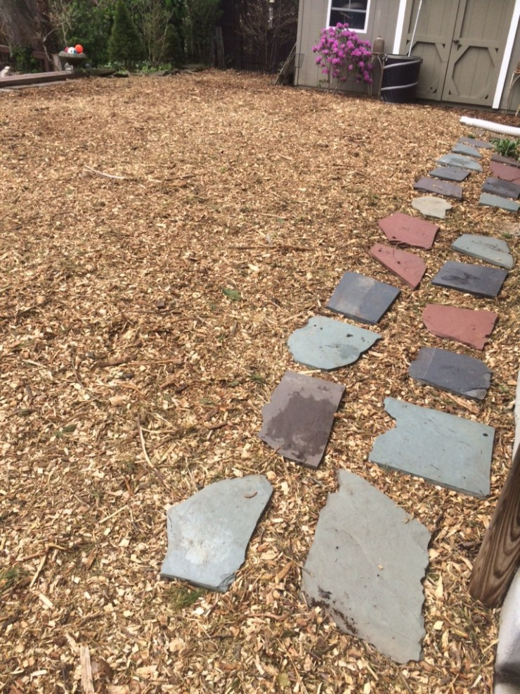 installation of wood chips