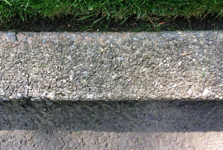 lawn edging along curb line