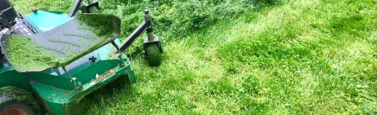 mowing high lawn
