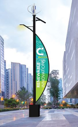 Renewable alternative energy and lighting structural light poles