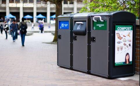 Solar powered waste management