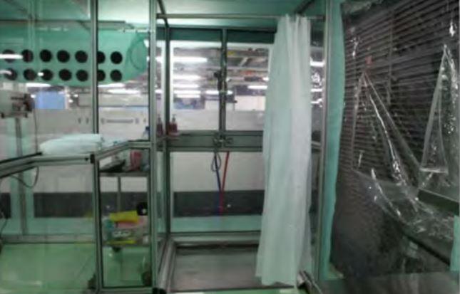 Built in rigid sanitation equipment