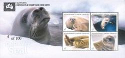 AAT Crabeater Seal M/S Overprint APF supports Newcastle18