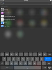 Spotlight in IOS 7 mit iPad