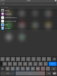 Spotlight in IOS 7 mit iPad