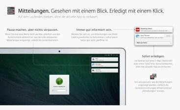 OS X Mavericks - Mitteilungen