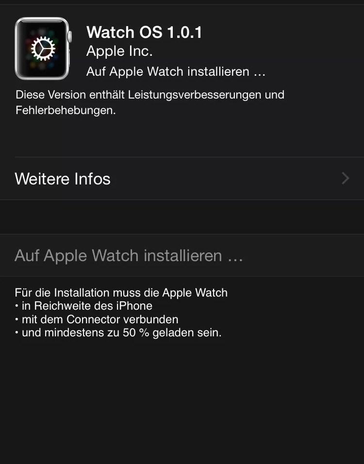 Update Apple Watch