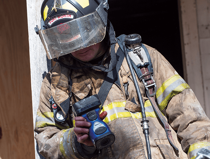 The Bullard Eclipse® LDX Thermal Imager offers the newest state-of-the-art infrared engine technology with the highest image quality and performance for the fire service. Image courtesy of Bullard.