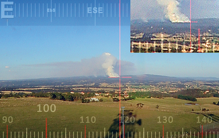 The high resolution 360 degree time-lapse sequences enables an unlimited number of users the ability to observe the entire location at once or independently zoom into any area of interest. The time-stamped sequences can be rewound to the point of ignition of multiple simultaneous fires. Image courtesy of ODIS Technologies.