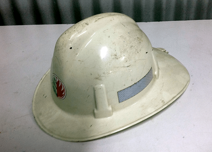 Old hard-hat type helmets are being used for Bushfire fighting, when AS/NZS 1801 Type 3 specification helmets have been available for 20 years. Image courtesy of Pacific Helmets.