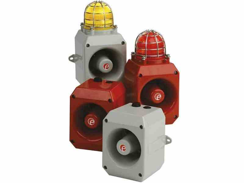 Audible and visual warning devices for fire, gas and security systems on show at Security Essen