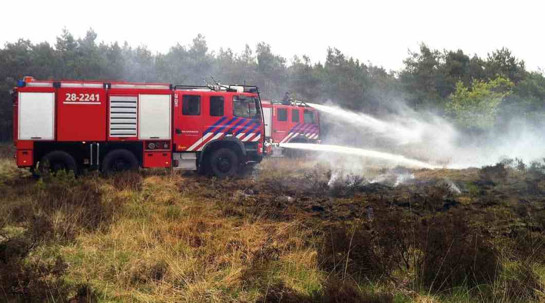 Training fires set during the Wildfire Investigation Course in The Netherlands.
