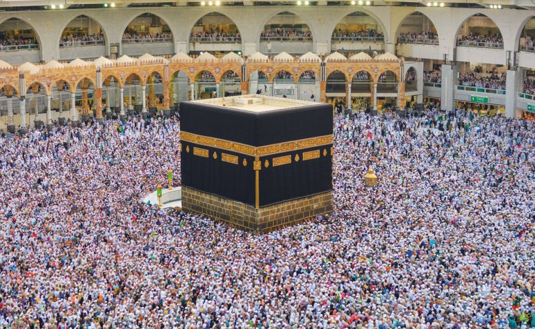 Crowds at the annual Hajj, the Islamic pilgrimage to Mecca, where hundreds or thousands of pilgrims have historically died or been severely injured over the years.