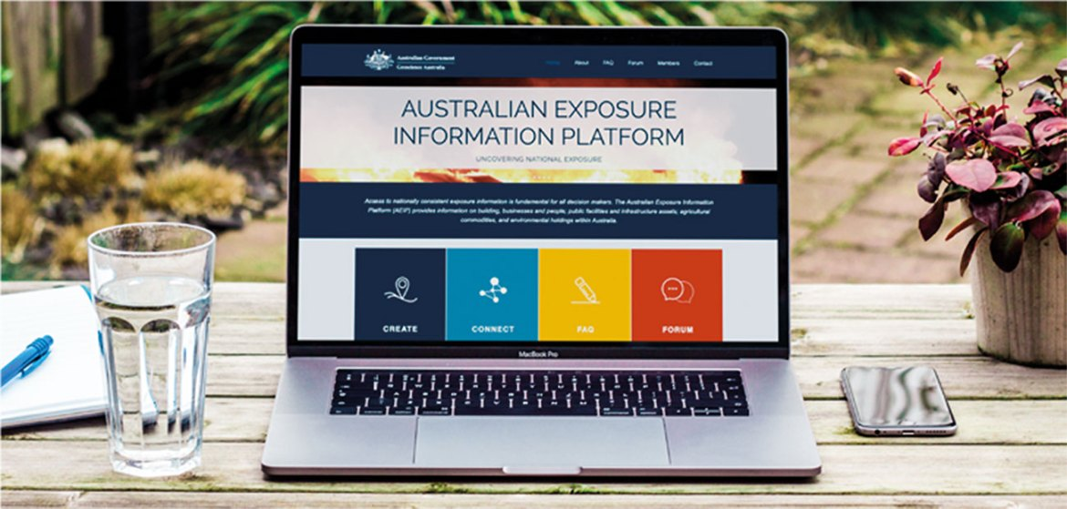 The Australian Exposure Information Platform is a new website, providing a snapshot of all assets exposed during a natural hazard. Image courtesy of Bushfire and Natural Hazards CRC and the Australian Exposure Information Platform