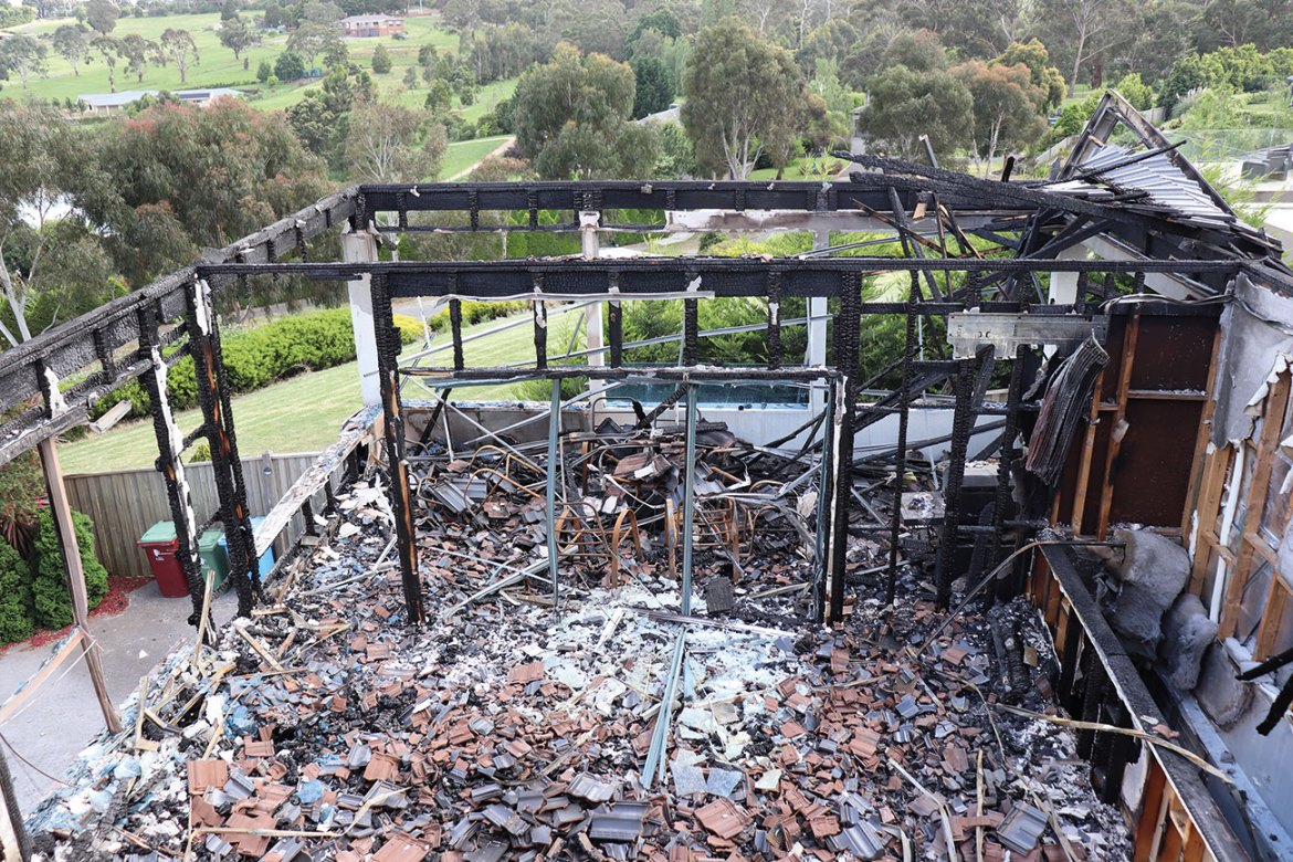 Directional heat patterns showed that the fire originated from the mosquito coil, which was left unattended by the family.