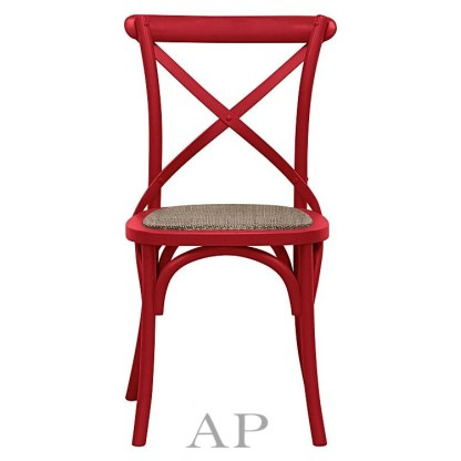 red-cross-back-dining-chair