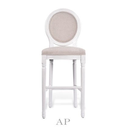 louis-xv-upholstered-bar-chair-white-front-view-ap-furniture