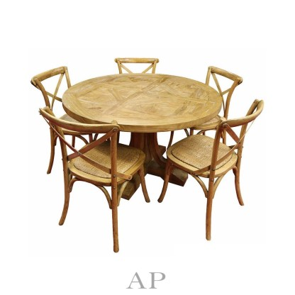 french-taylor-acacia-wood-round-dining-table-parquetry-top-oak-gloss-chairs-1-ap-furniture