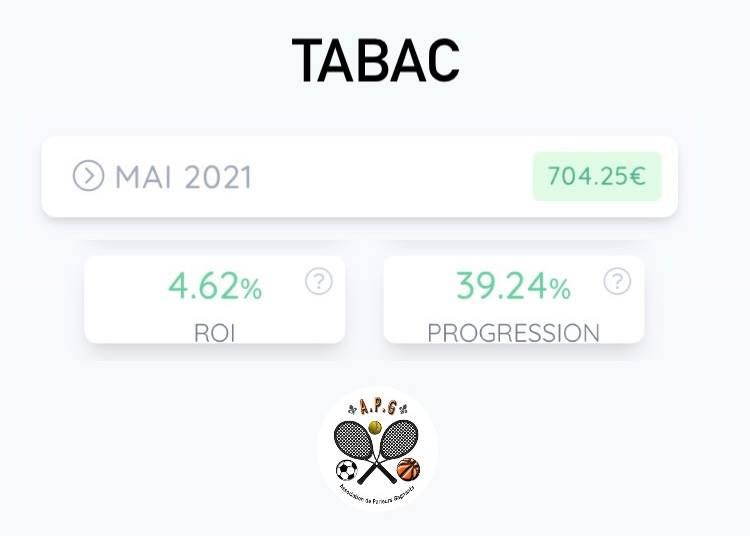 bilan du mois de mai 2021 Bankroll TABAC