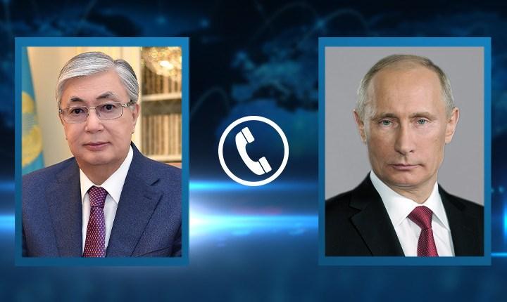 Состоялся телефонный разговор Президента Касым-Жомарта Токаева с Президентом Российской Федерации Владимиром Путиным