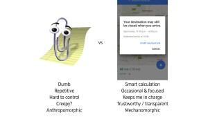 Clippy vs google maps interuption
