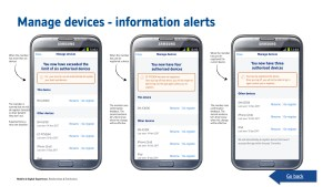 Manage devices - information alerts