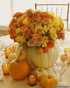 Floral table scape.