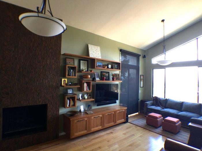 Newbury Park Contemporary Floating Shelves - Living Room