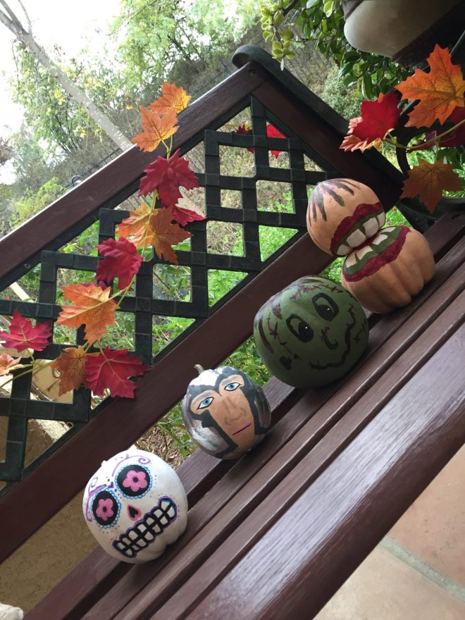 Fall Painted Pumpkins
