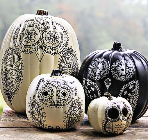 Fall Sharpied Pumpkins